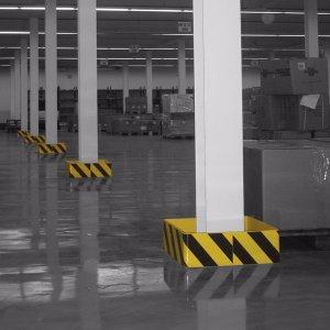 Anprallschutz für Stützen im Fußbereich Anwendung