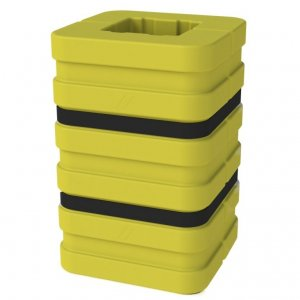 Säulenschutz aus halb-flexiblem Kunststoff
