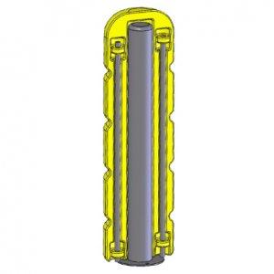 Kombi: Stahlpoller mit Kunststoff-Ummantelung